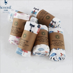 wholesale new design super soft 100% organic cotton muslin swaddle baby blanket