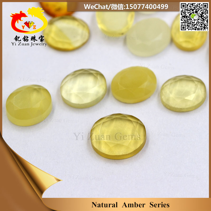 Factory price Oval cut baltic amber beads wholesale natural stone