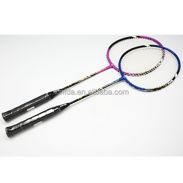 High quality custom aluminum alloy frame and graphite shaft one piece best badminton racket