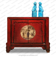 Chinese Antique Red Drawer Side Table Industrial Style Furniture ...