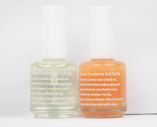 Functional care Nail Art Nail Polish Set Mirror light oil calcium base coat 15ml 2pcs set