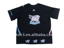 sublimation polyester black t shirts
