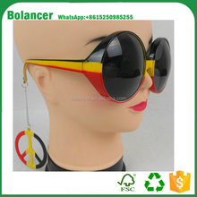 2017 Euro Germany football fans flag with peaceful sunglasses