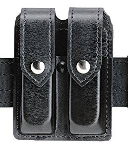 Safariland Duty Gear Slimline Double Magazine Pouch With Flap Basketweave Black Glock 17, 22, 37, 34, 35; Sig P229