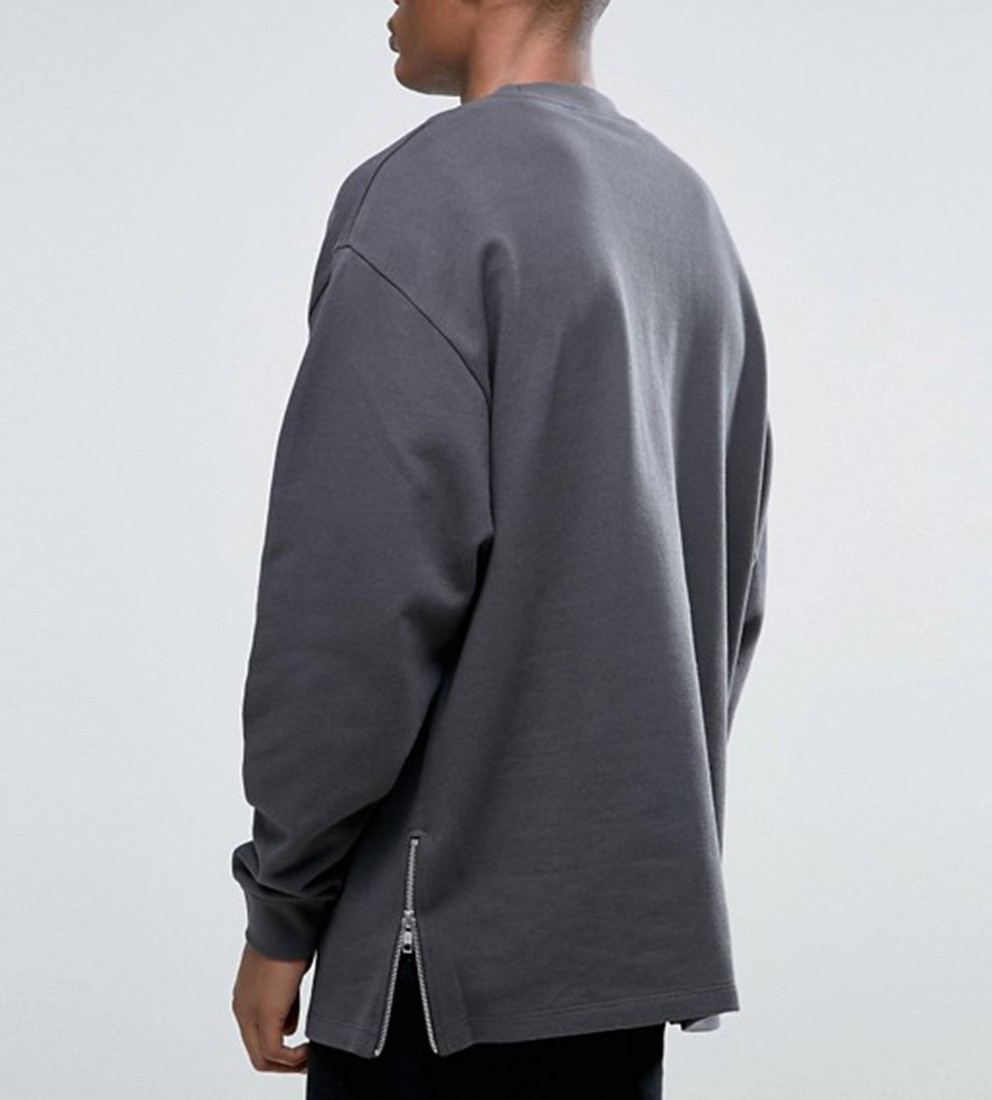 d3e6269d7 Chinese Hoodie Manufacturers Custom 100% Cotton Wholesale Men Black Side  Zip Sweatshirts Hoodies