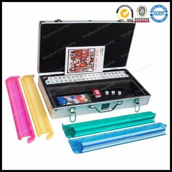 custom 166 american mahjong set with aluminum case
