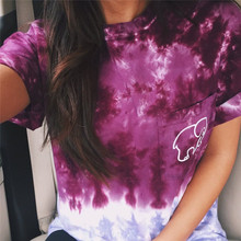 Tee Shirt Femme Hipster Women Kawaii Funny Elephant Print Short Top Tees 2016 Harajuku Ladies Punk