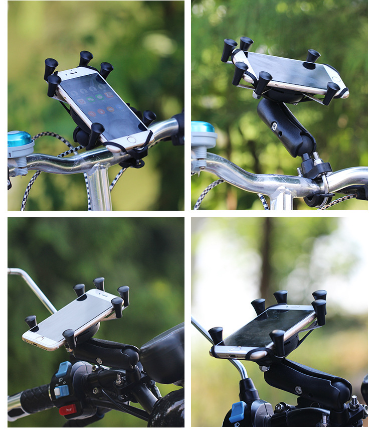 Anti-theft Universal GPS Mobile Phone Scooter Bicycle Electric Auto Bike Handlebar Strong Mount Holder Stand for iPhone 6 6s 7