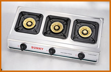 Table top 3 burner stainless steel gas stove