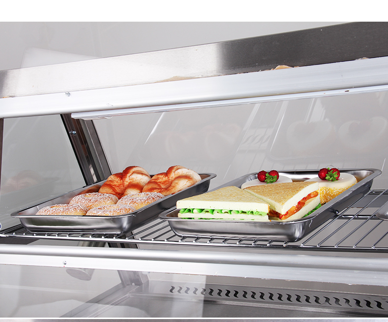 Glass Food Warmers ~ Glass food display chicken warmer cabinet heater