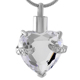 XWJ8072 High quality hot selling fast shipping heart cremation urn pendant big CZ stone inlay women accessories jewelry