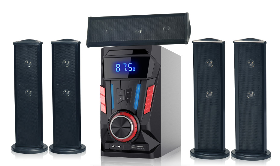 Hot selling private mold 5.1 speaker home theater systems with sd fm usb remote