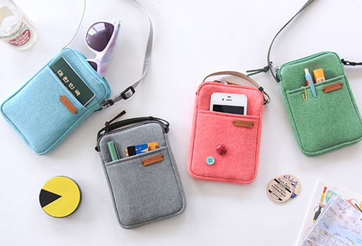 Side Neck Bag Crossbody Shoulder Travel Passport Smart Phone Camera Small Wallets Pouch