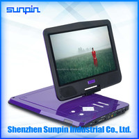 10 inch MTK solution Portable EVD 1080p HD screen High Quality Portable DVD Players with Big Screen