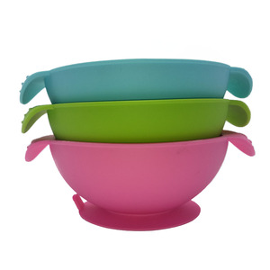 Eco-friendly Baby Feeding Bowl, Silicone Baby Bowl