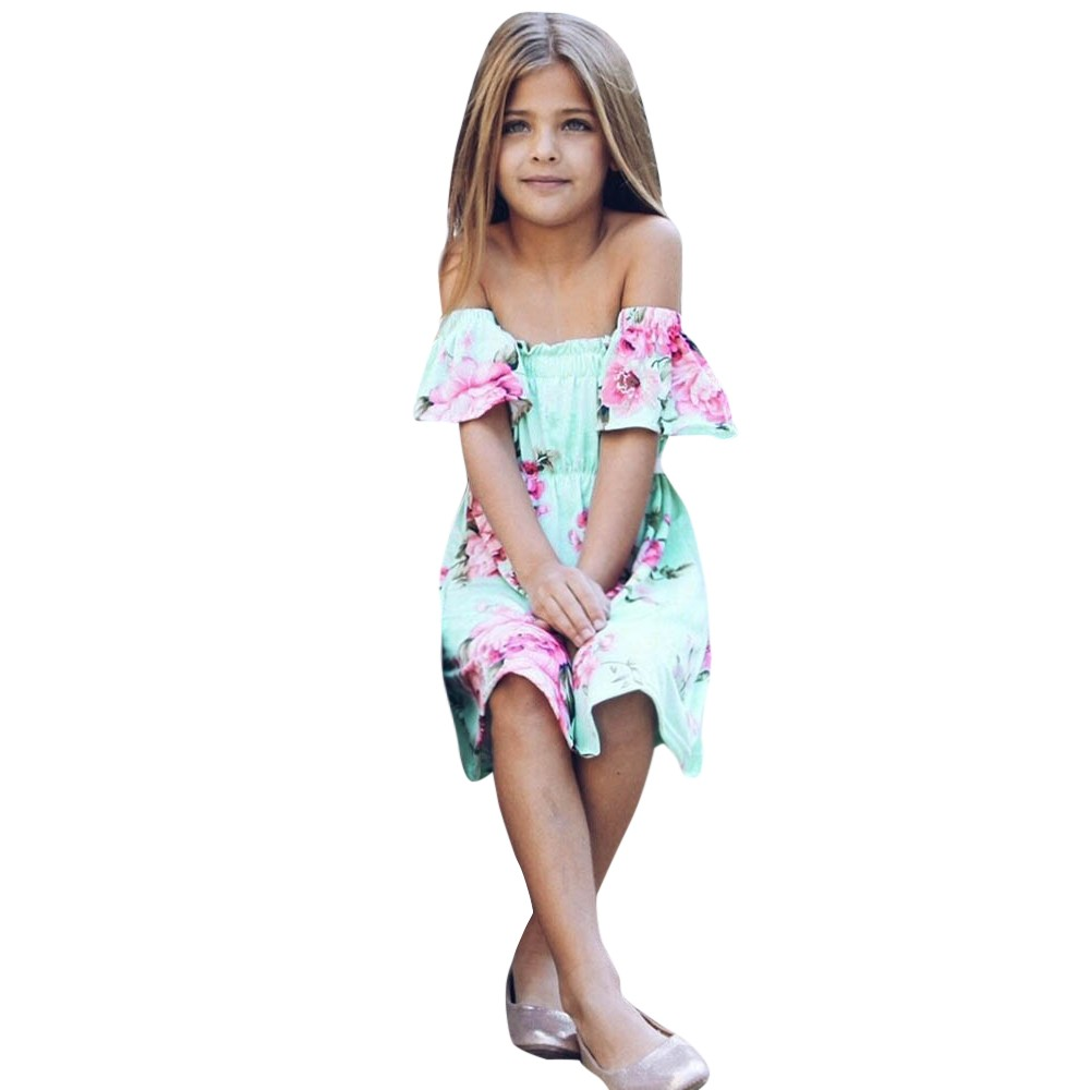 6aacb8e2670cb MUQGEW Summer Family Matching Outfits Mother and Daughter Dresses Floral  Print Ruffles Off Shoulder Dress Mom Daughter Dress