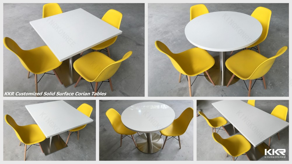Solid Surface Canteen Tables And Chairs Chinese Restaurant