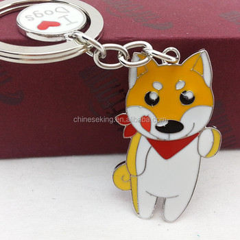 Cute Metal Shibainu Keychain,Handmade Dog Pendant Car Keychains,Korean Gift  Keyrings For Girls - Buy Metal Shibainu Keychain,Dog Pendant Car