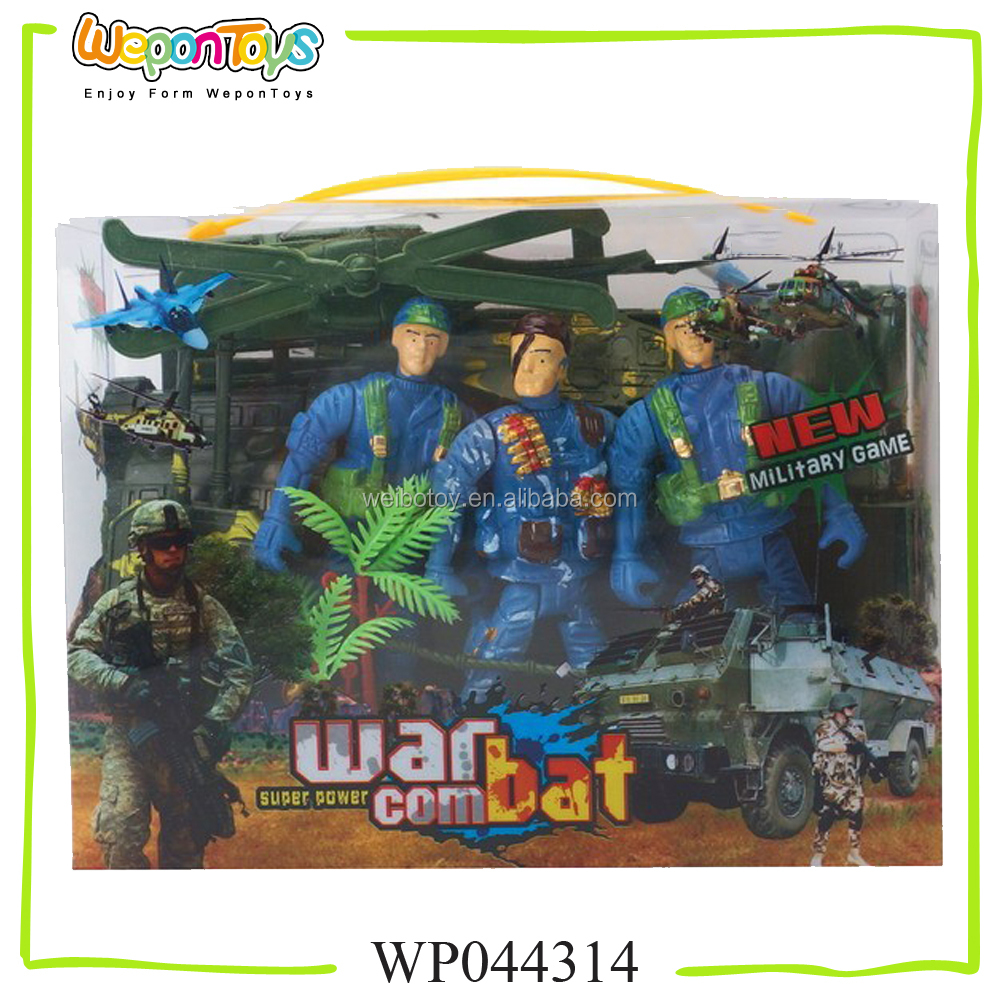 new arrival non-toxic military play set for kids soldier force plastic military set toys