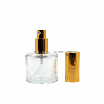 50ml glass round perfume bottle with sprayer clear diffuser bottle