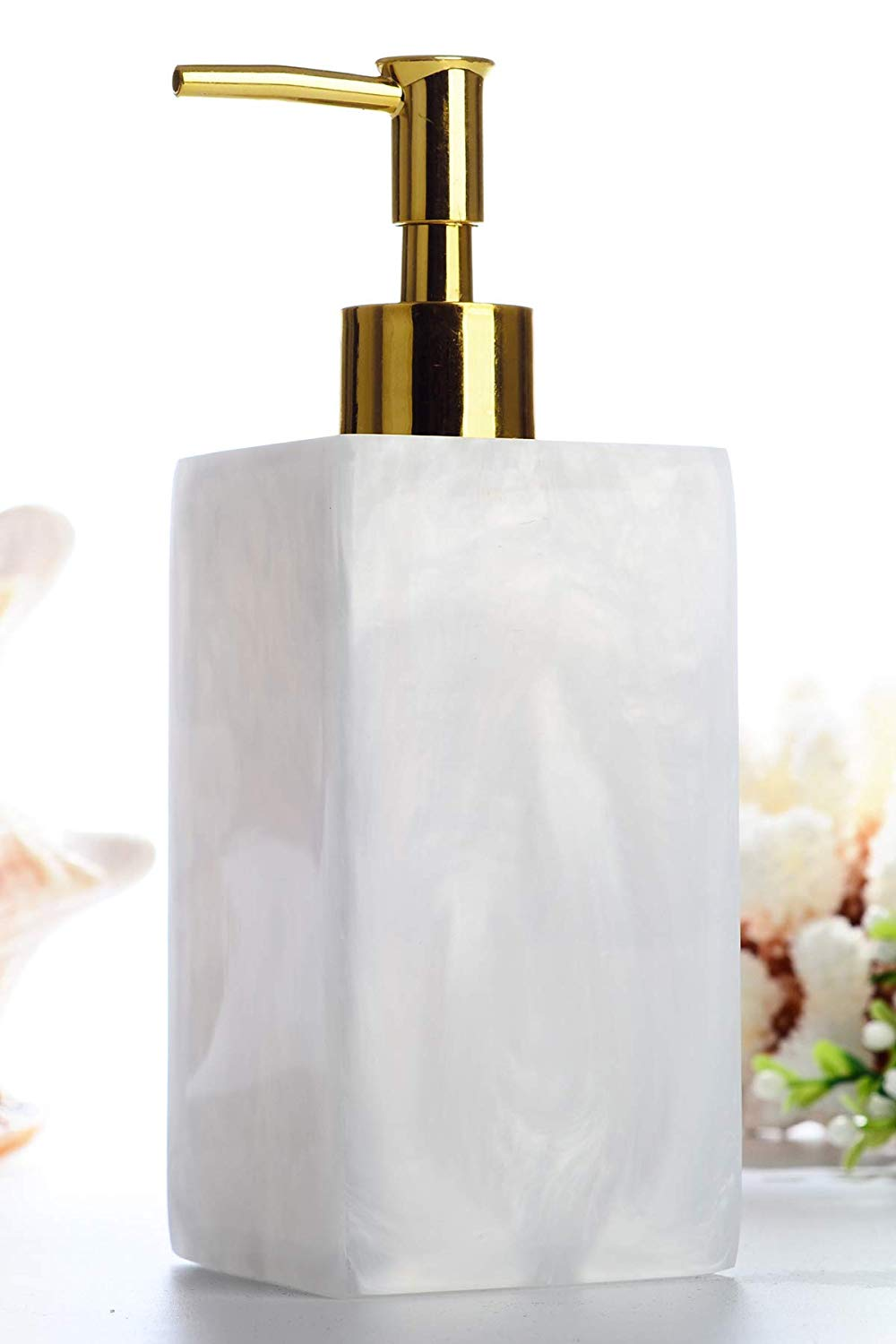 Soap Dispenser Bottle, Hand Soap Dispenser Pump Bottle for Essential Oils, Lotions, Liquid Soaps, Shampoo Shower Gel Hand Lotion Bottle for Kitchen and Bathroom(Gold)