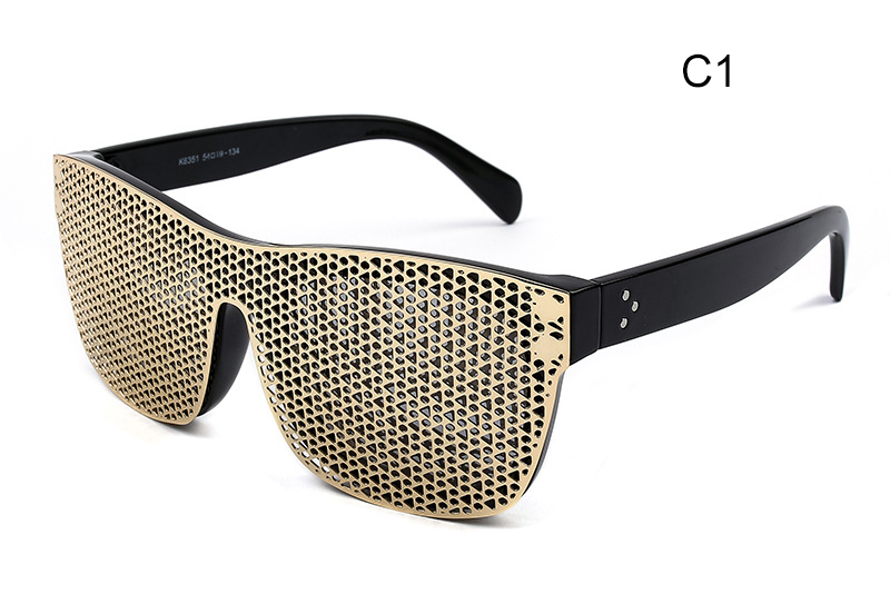 New Fashion Pinhole Glasses Removable Frame Square Sunglasses Men Brand Designer Male Sun Glasses oculos de sol feminino CC0281