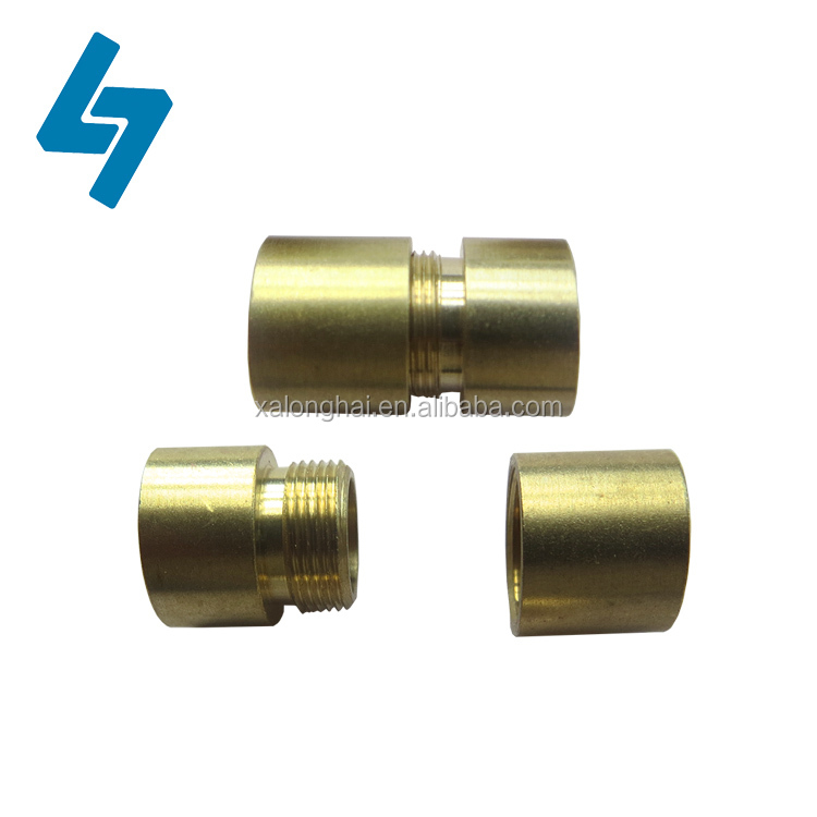 CNC Machining part A and part B matching thread brass bushing