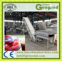 Complete prickly pear paste production line / prickly pear jam making machine