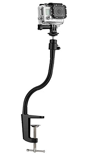"""13.3"""" Clamp Gooseneck Mount Camera Jaws Stand for for GoPro Hero 6/5/4/3+/3/2/1/Session"""