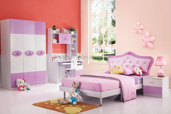 Modern Girls Bedroom Set , Pink Princess Bed PY 6118