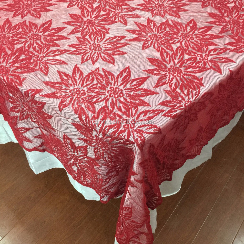 Red Lace Tablecloth, Red Lace Tablecloth Suppliers And Manufacturers At  Alibaba.com