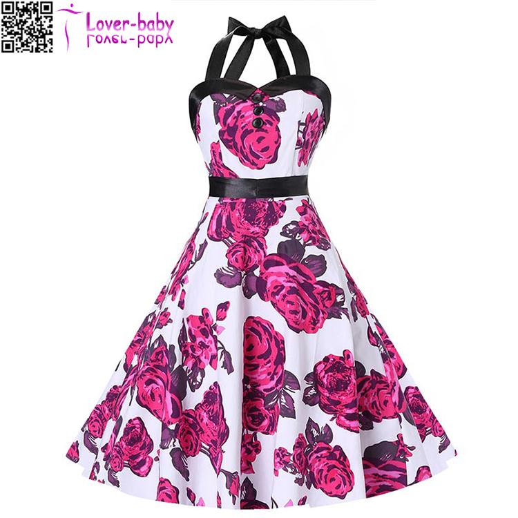Venta al por mayor vestido floreado de noche-Compre online los ...