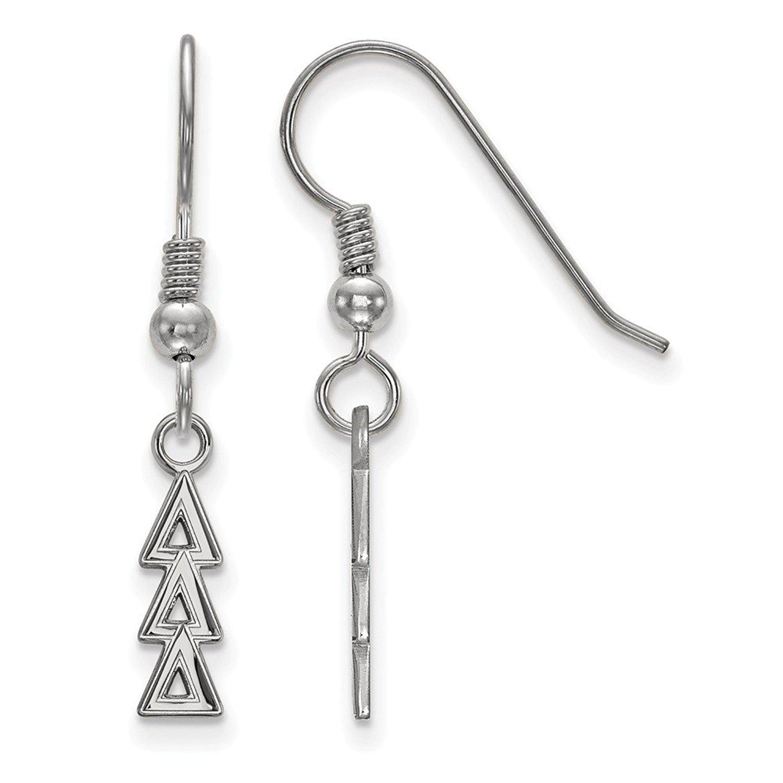 Roy Rose Jewelry Sterling Silver LogoArt Delta Delta Delta Small Dangle Earrings