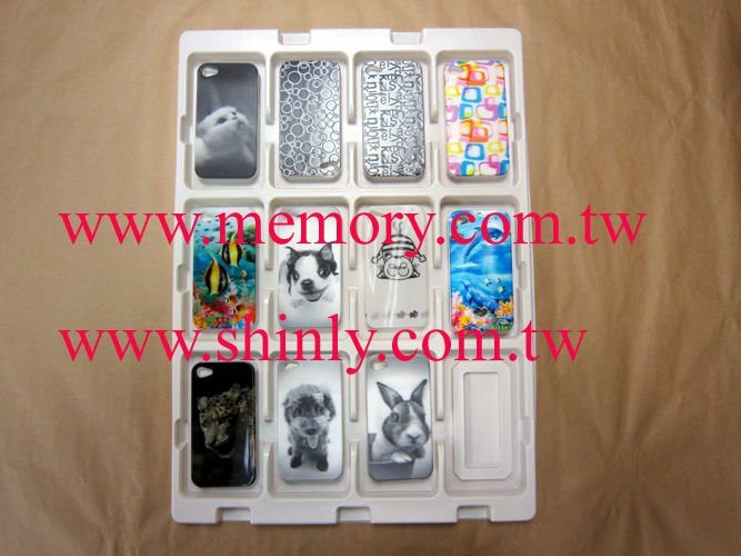 case cover housing for apple iphone 4 4s 3 plastic clamshell tray