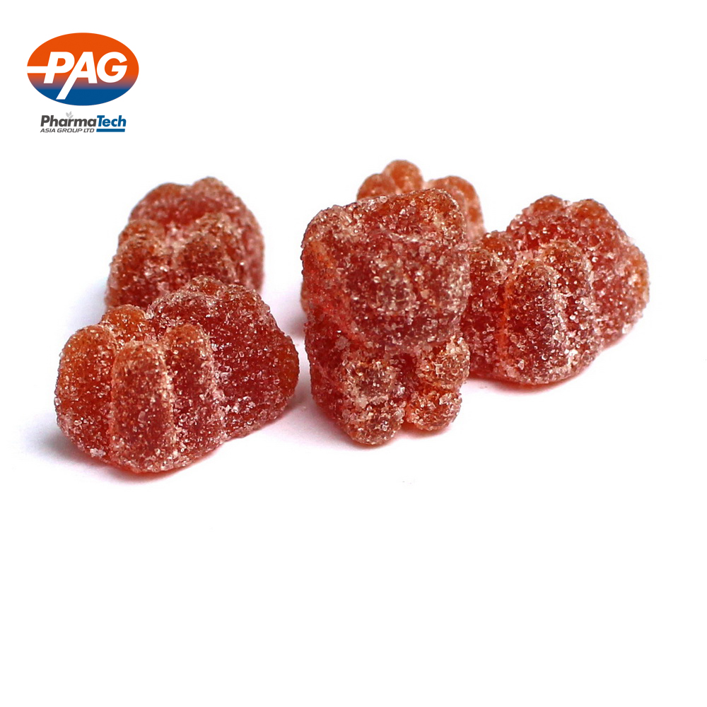 sugar coated/sugar free vitamins gummy bears supplementary food