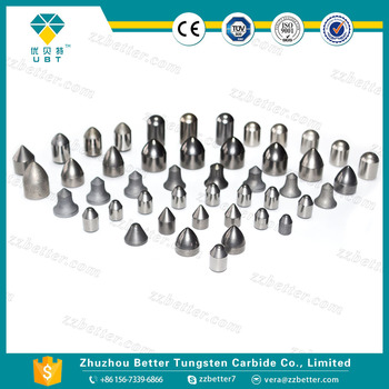Cemented carbide inserts for mining