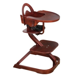 Adjustable wood portable best baby feeding high chair 2018