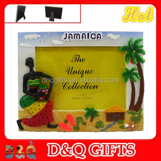 Resin Jamaica Picture Frame Polyresin Souvenir Photo Frame