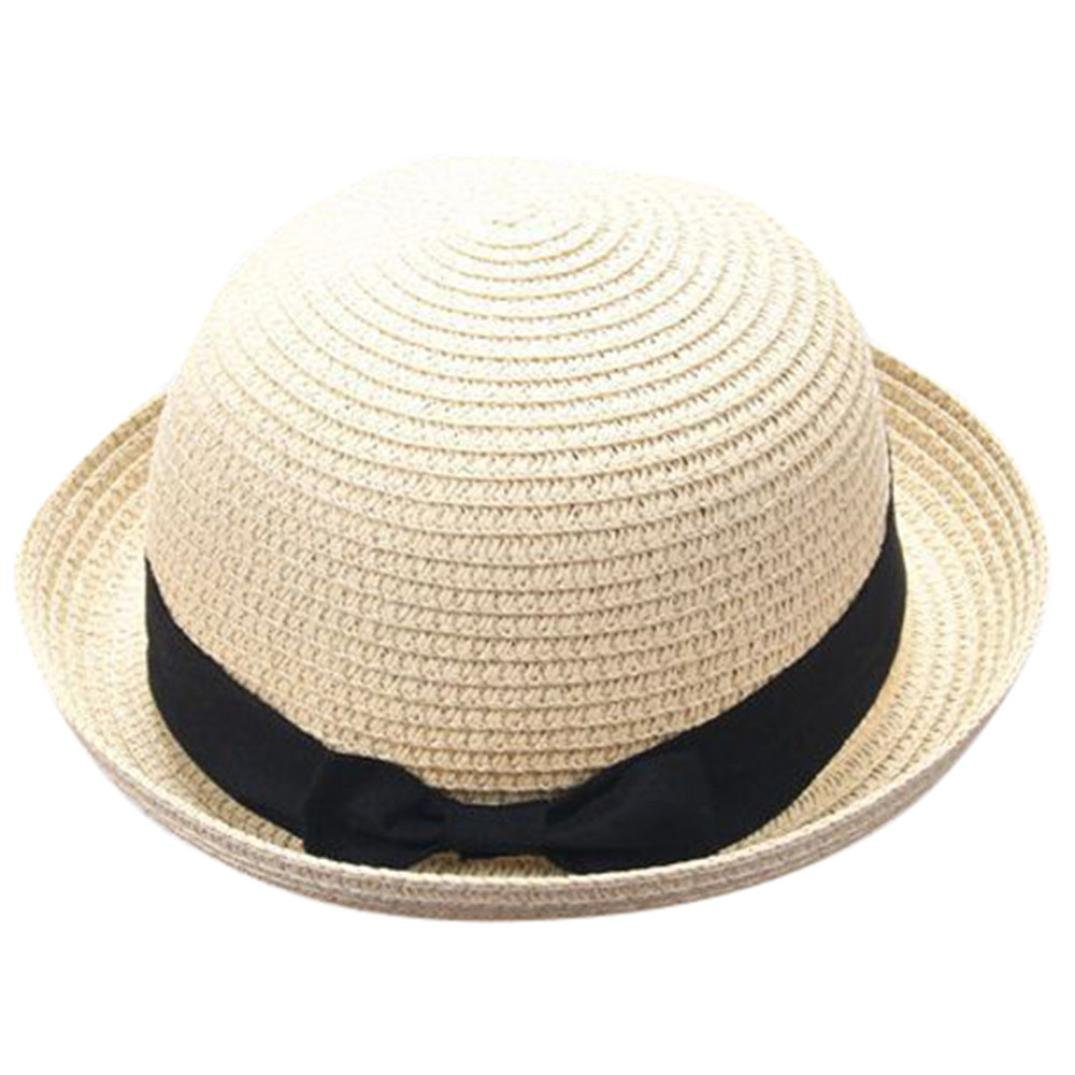 9fcc9a5e Get Quotations · Hongxin Straw Hat,Mother And Daughter Caps Straw Bowknot Hats  Bucket Family Matching Hat Women