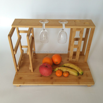 Bamboo Cheese Cutting Board With Wine Rack Glass Holder View Cheese Cutting Board Nature Product Details From Shenzhen Nature Bamboo And Wood Co