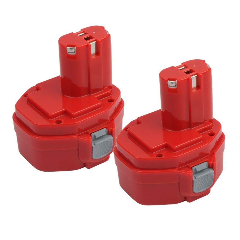 2-Pack 2.0Ah 1420 Replacement Battery for Makita 1422 1400 PA14 192600-1 194172-2 193062-6 193987-4 638350-9-2 193985-8 Cordless Power Tools (14.4V, Ni-CD)
