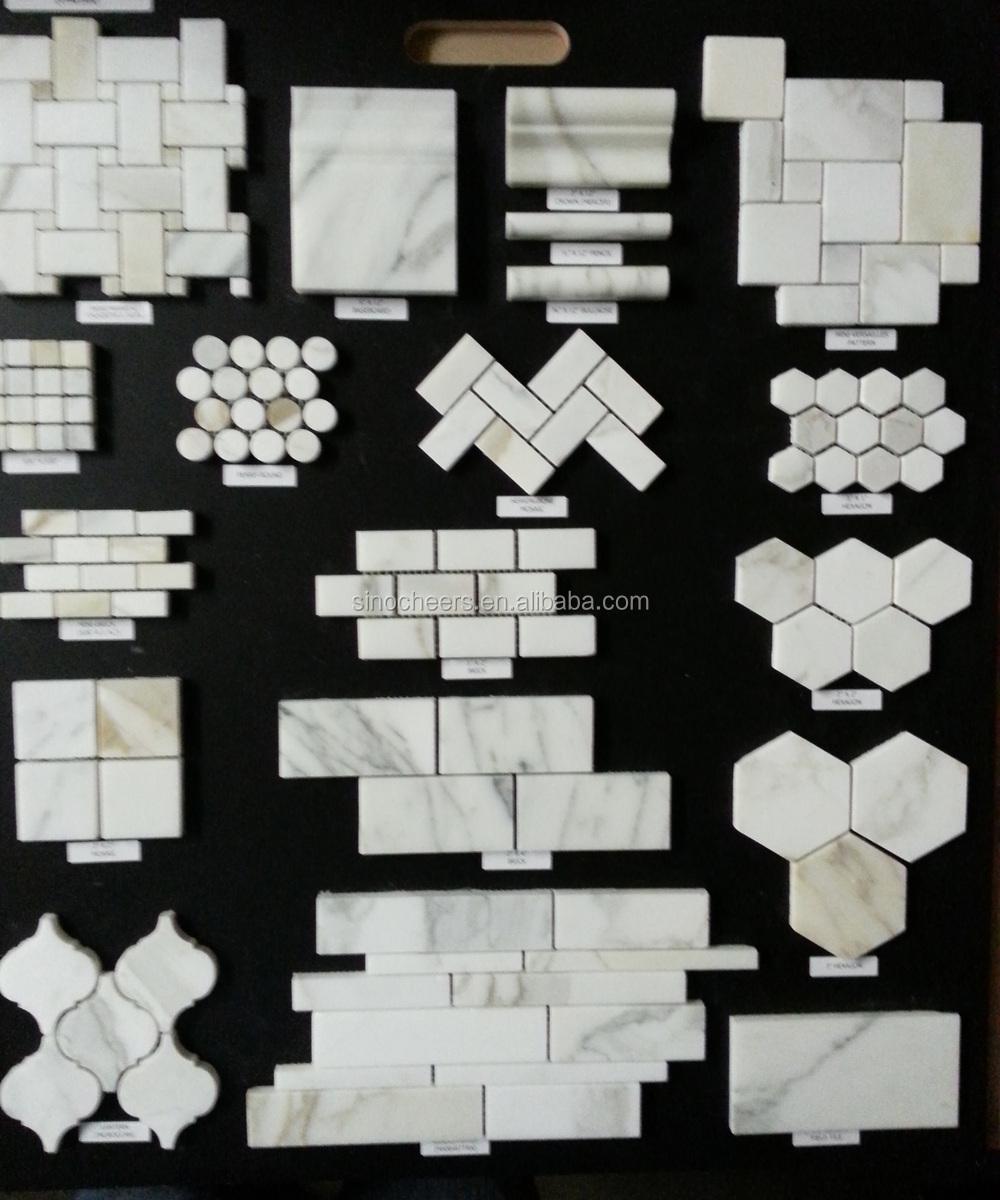 "carrara venato 2x4"" honed beveled marble decorative subway tile"