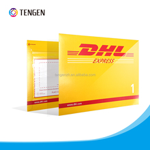 DHL paper Cardboard envelope with self-adhesive tape on the back pouch
