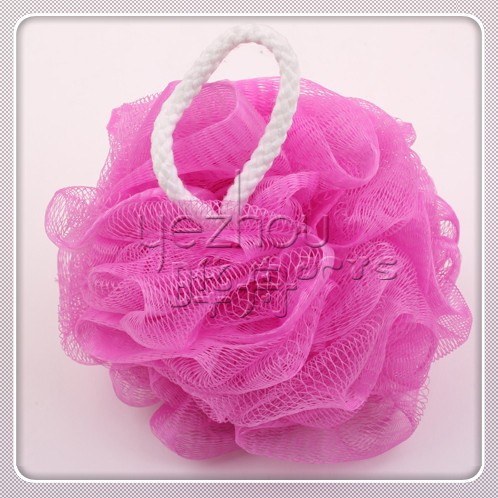 Colorful loofah mesh sponge,pink bath sponge loofah for shower