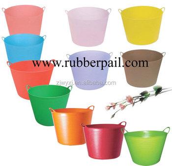 Plastic Garden Bucket,flexible Colorful Buckets