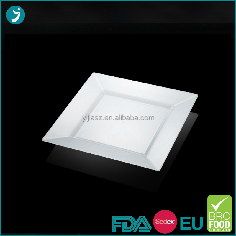 Factory direct supply Disposable Party square plate with competitive price