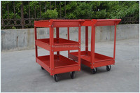 three layers hotel trolley room service cart , cleaning service trolley