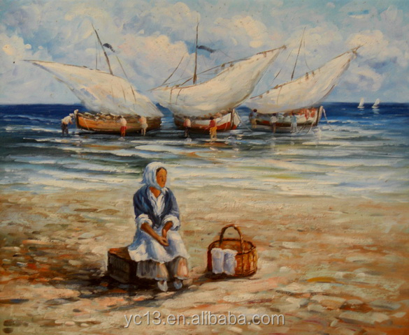 terrific seascape oil painting my future ct-287
