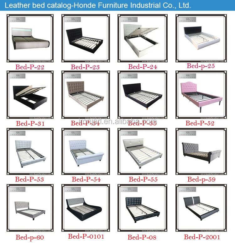 Online slaapkamer meubels prijzen zwart lederen bed voor koop buy product on - Wit lederen bed ...