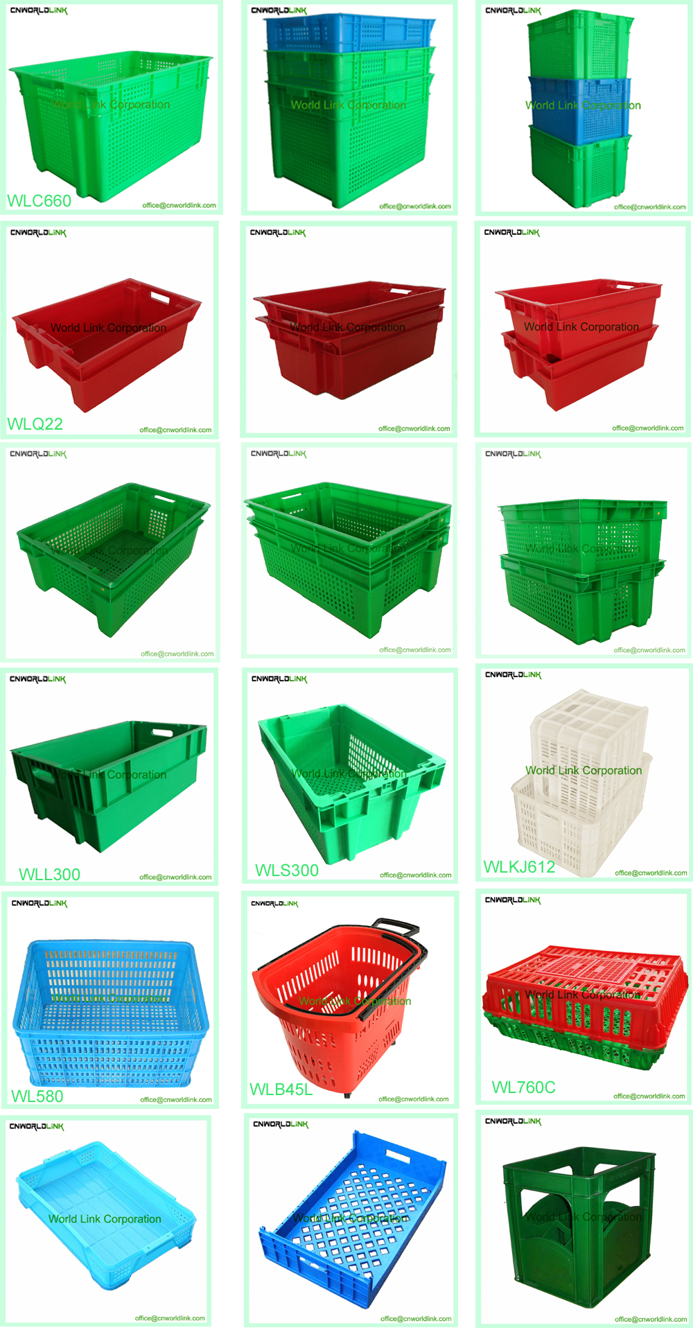 330 High Quality Collapsible Plastic Totes